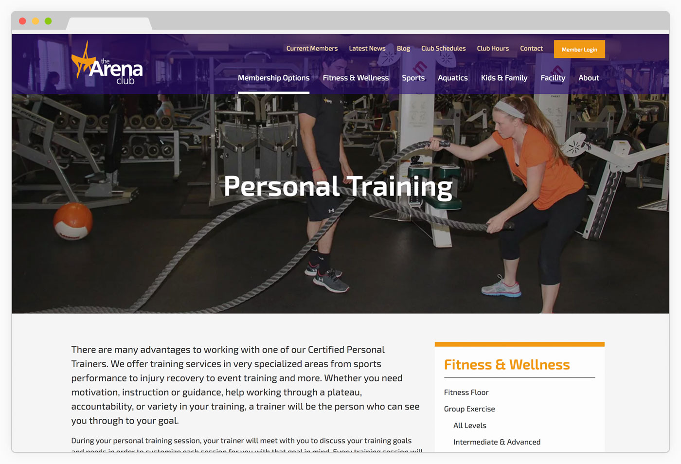 TAC Personal Training Page