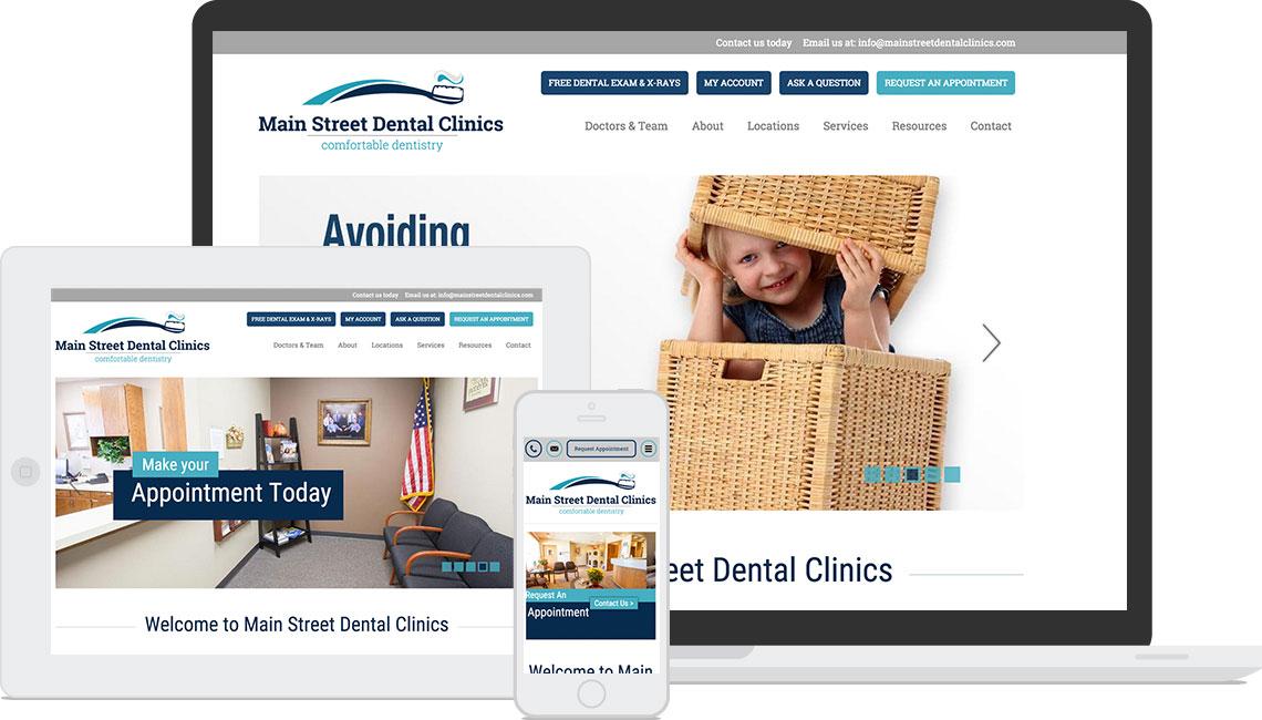 Main Street Dental Clinics' New Website
