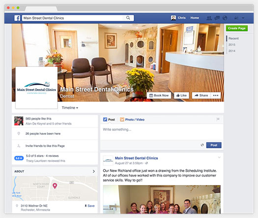 Main Street Dental Clinics Facebook Page